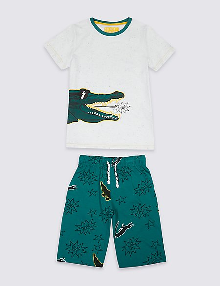 Crocodile Print Pyjamas (3-16 Years)