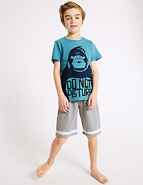 Gorilla Novelty Short Pyjamas (3-16 Years)