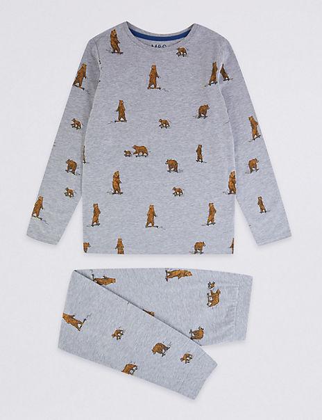 Pure Cotton Bear Pyjamas (1-16 Years)