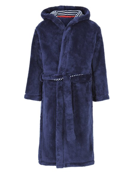 Stripe Lined Dressing Gown with StayNEW™ (5-14 Years)