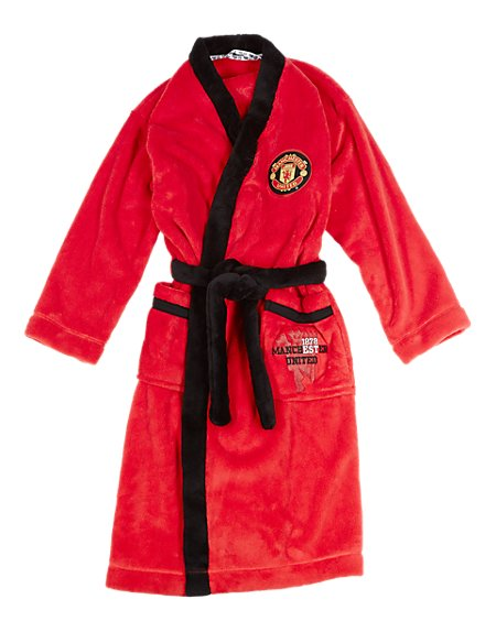 Manchester United Dressing Gown with StayNEW™ (3-16 Years)