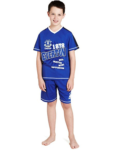 Pure Cotton Everton Football Club Short Pyjamas | M&S