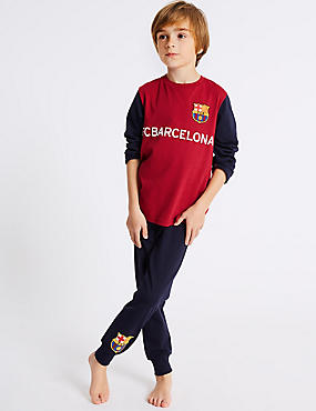Pure Cotton FC Barcelona™ Pyjamas (3-16 Years)