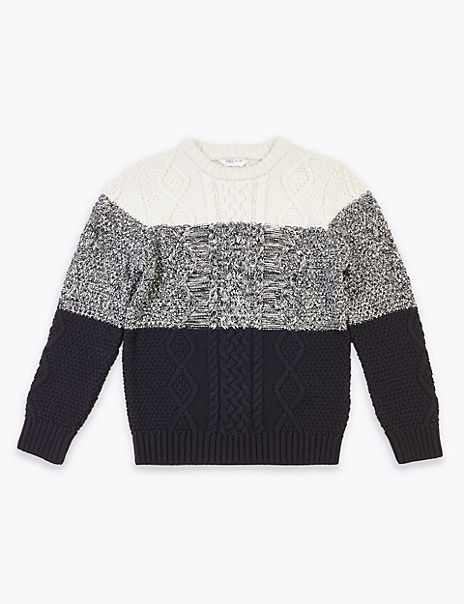 Colour Block Jumper (3-16 Years)