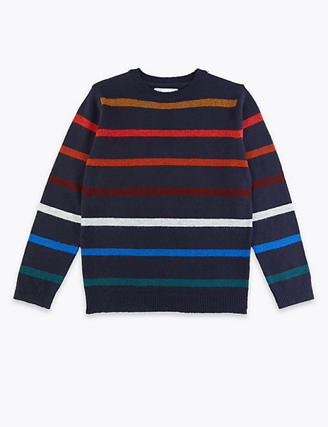 Striped Knitted Jumper (3-16 Years)