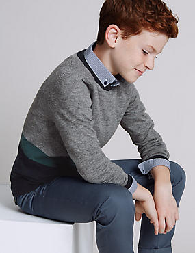 Cotton Blend Jumper (3-14 Years)
