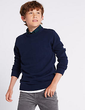 Knitted Mock Shirt Jumper (3-16 Years)