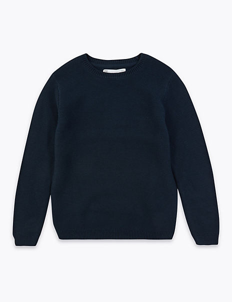 Cotton Solid Knit Jumper (6-16 Years)