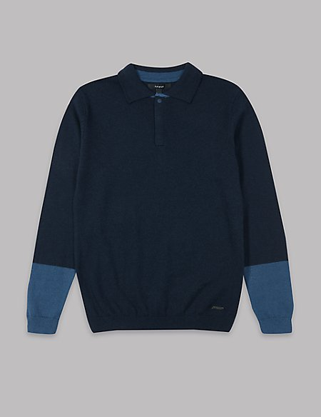 Cotton Blend Polo Shirt (3-16 Years)