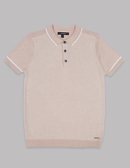 Cotton Rich Knitted Polo Shirt (3-16 Years)
