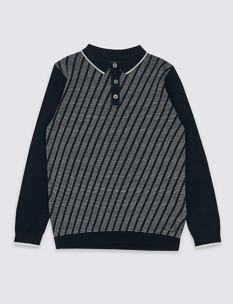 Knitted Polo Jumper (3-16 Years)