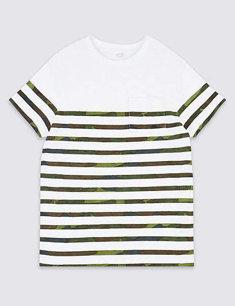 Cotton Camo Stripe T-Shirt (3-16 Years)
