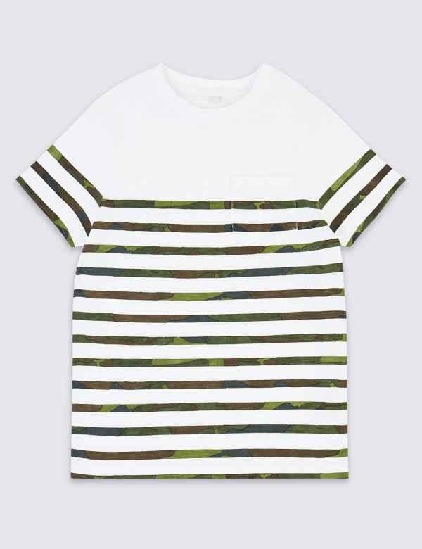 90a28be0 Cotton Camo Stripe T-Shirt (3-16 Years)