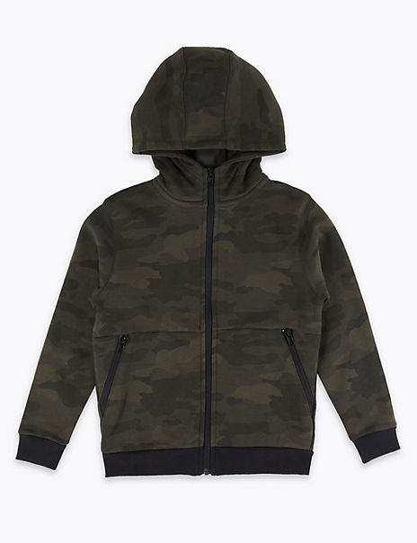Cotton Camouflage Hooded Top (3-16 Years)