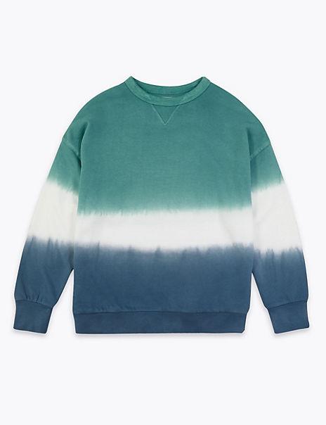 Dip Dyed Slightly Oversized Sweatshirt (6-16 Yrs)
