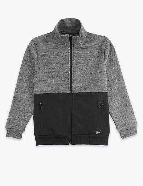 Cotton Funnel Neck Sweatshirt (3-16 Years)