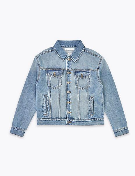 Pure Cotton Denim Jacket (6-16 Years)