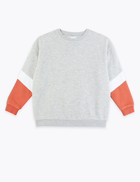 Colour Block Sweatshirt (3-16 Years)