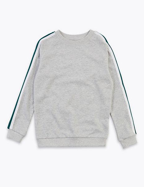 Raglan Striped Sweatshirt (6-16 Years)