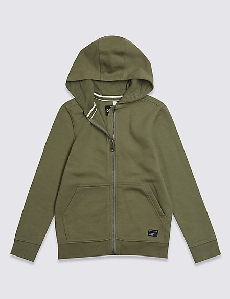 Hooded Zip Through Sweatshirt (3-16 Years)