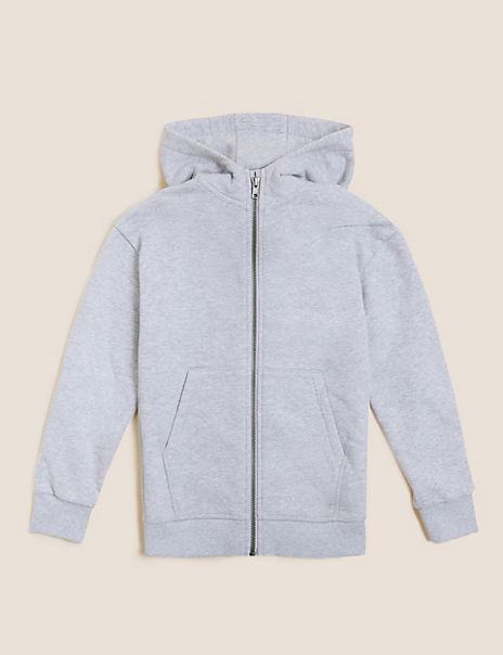 Cotton Rich Zip Through Hoodie (6-16 Years)
