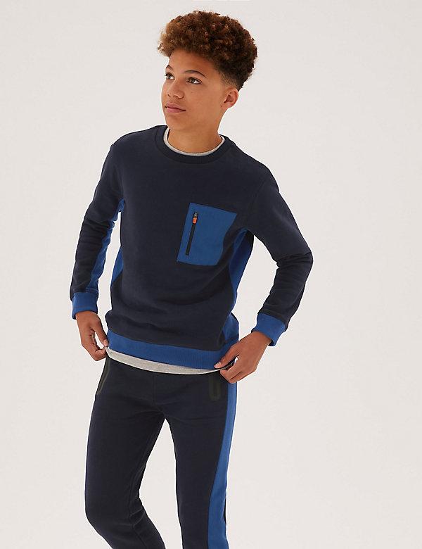 Cotton Zip Sweatshirt (6-16 Yrs)