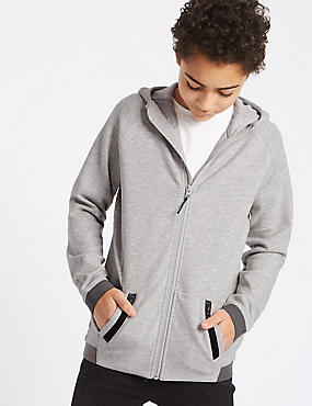 Jersey Sport Hooded Sweatshirt (3-16 Years)