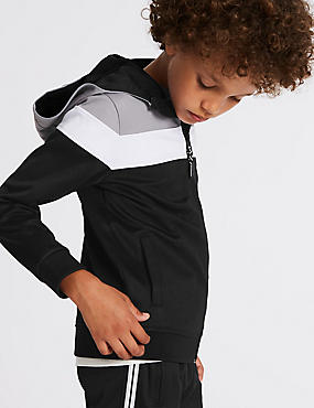 Cotton Rich Zipped Sweatshirt (3-16 Years)