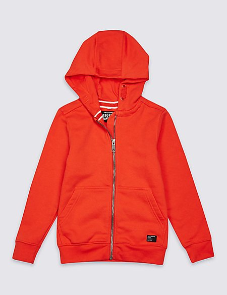 Zipped Through Hooded Top (3-16 Years)