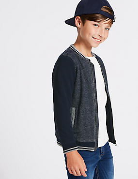 Pure Cotton Zip Through Jumpers (3-16 Years)