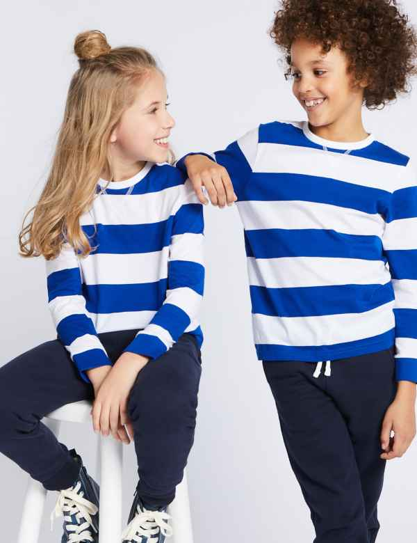 3d4c7b1353 Sparks. Pure Cotton Striped Top (3-16 Years)