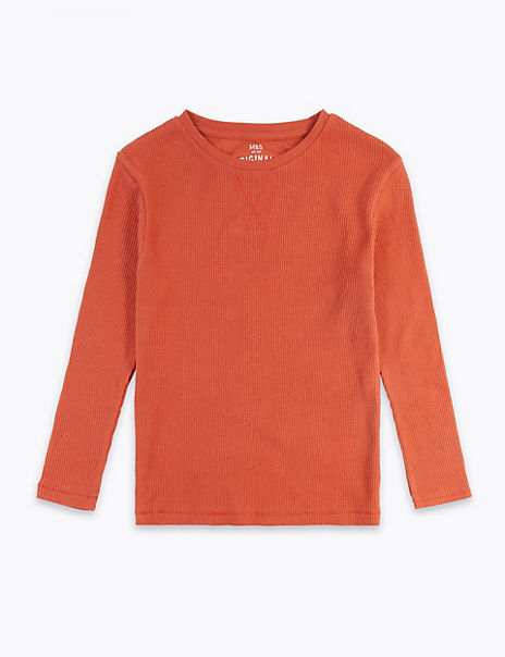 Cotton Ribbed Top (3-16 Years)