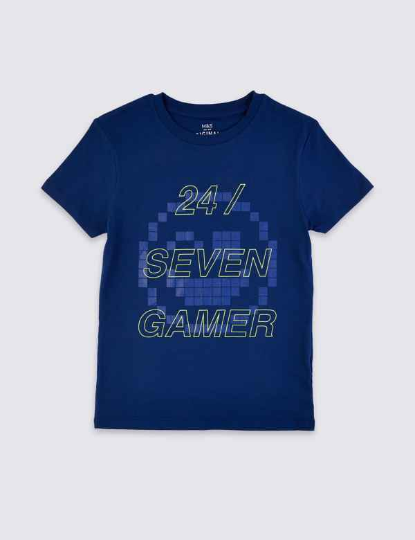 e47c256960f0 Boys T Shirts | Plain & Printed T Shirts for Boys| M&S