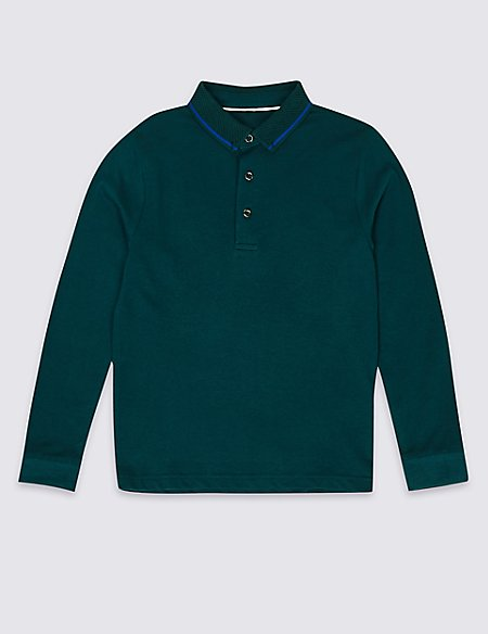 Pure Cotton Polo Shirt (3-16 Years)