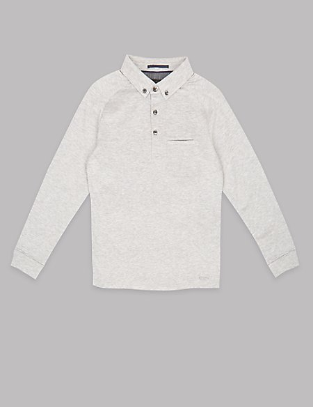 Pure Cotton Rugby Top (3-14 Years)