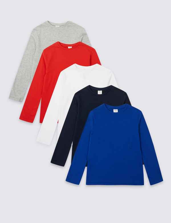 92fca4b7 5 Pack Easy Dressing Tops (1-16 Years)