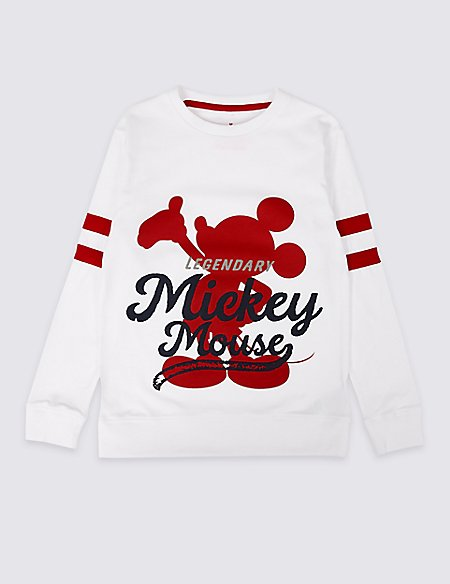 Mickey Mouse™ Pure Cotton Top (3-16 Years)