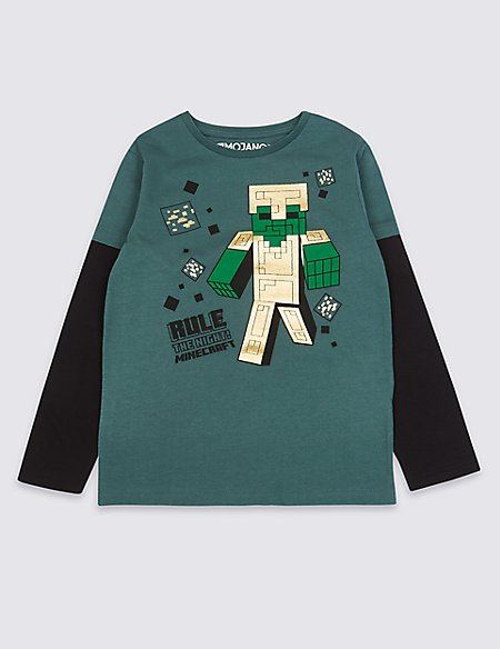 Pure Cotton Minecraft™ T-Shirt (3-16 Years)