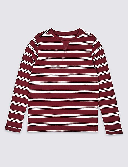 Pure Cotton Striped T-Shirt (3-16 Years)