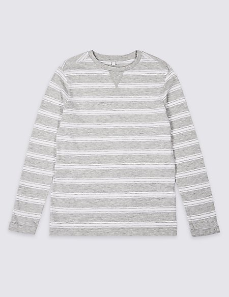 Cotton Rich Striped Top (3-16 Years)