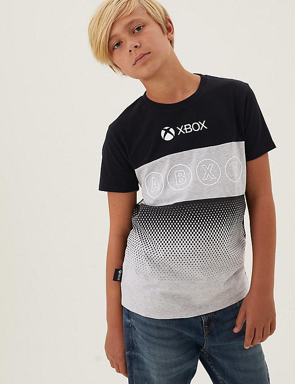 Zuiver katoenen T-shirt met Xbox™-logo (6-16 jaar)