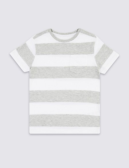Cotton Rich Striped T-Shirt (3-16 Years)