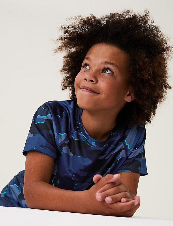 T-shirt met camouflageprint (6-16 jaar)