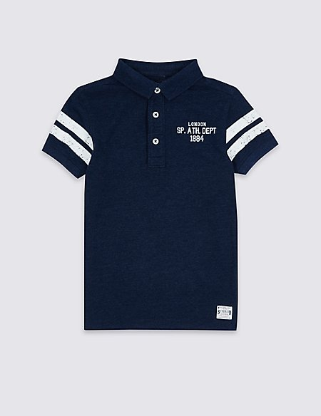 Cotton Rich Short Sleeve Polo Shirt (3-14 Years)