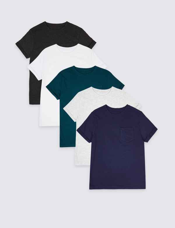 33a8a9ff5e1ab 5 Pack T-Shirts (3-16 Years)