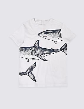 Easy Dressing Shark T-Shirt (3-16 Years)