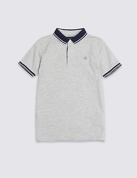 Cotton Rich Jersey Polo Shirt (3-16 Years)
