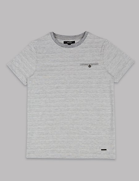 Cotton Rich Textured T-Shirt (3-16 Years)