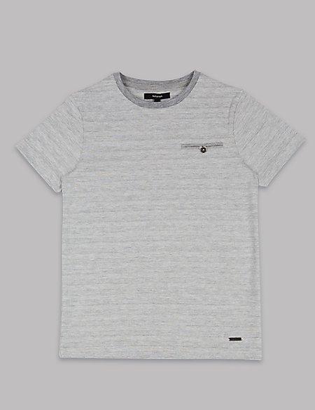 Cotton Rich Textured T-Shirt (3-16 Years)