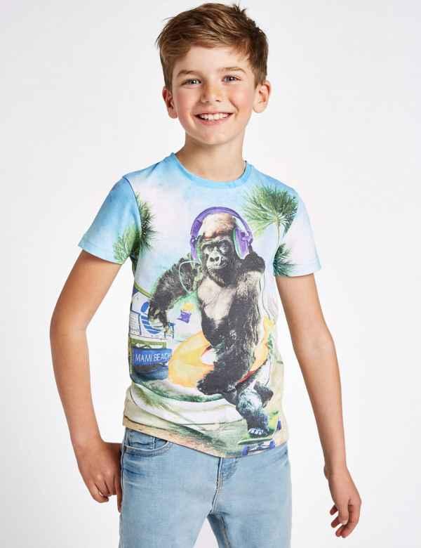 cc0ddb03 Gorilla Print T-Shirt (3-16 Years)